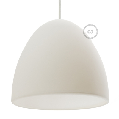 Silicone Lampshade color white supplied with diffuser and strain relief. Diameter cm 25.