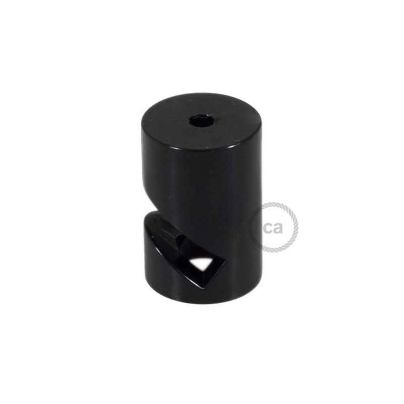 """Decentralizer, Black """"V"""" ceiling or wall hook for any fabric electric cable"""