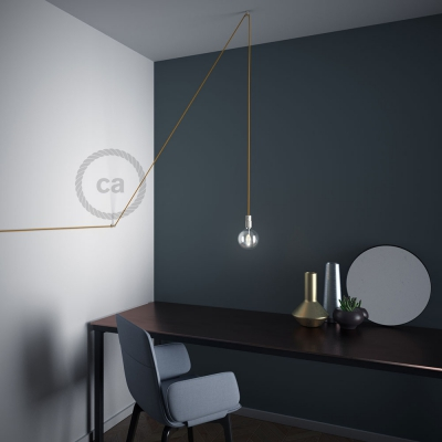 """Decentralizer, Transparent """"V"""" ceiling or wall hook for any fabric electric cable"""