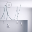 Decentralizer, Transparent ceiling hook and stop for fabric cable