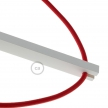 Pinocchio, adjustable white varnished wooden wall mount for pendant lamps.