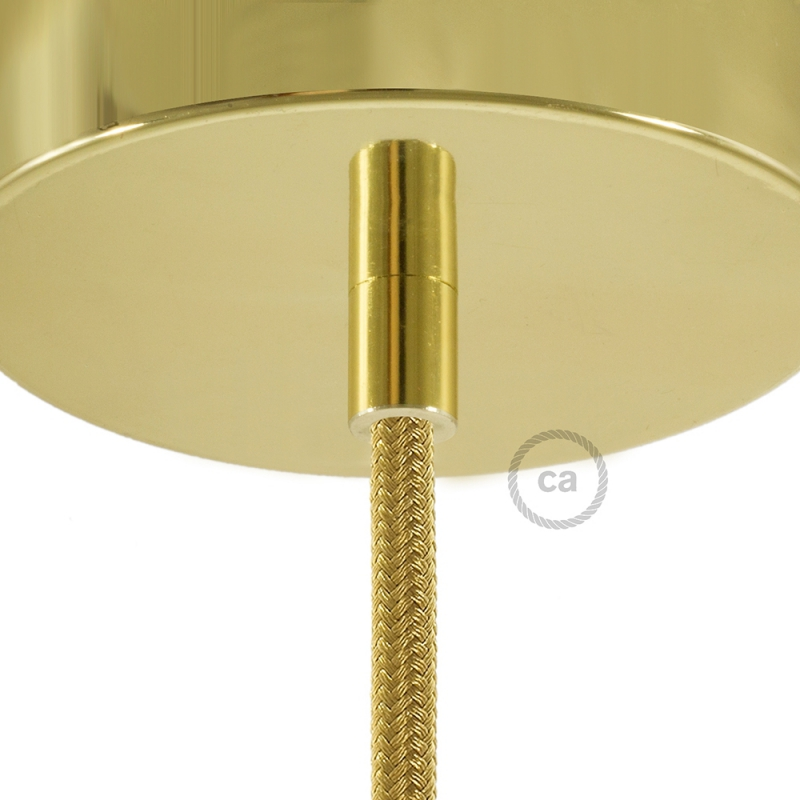 Brass Finish Metal Round Strain Relief Clamp Provided With