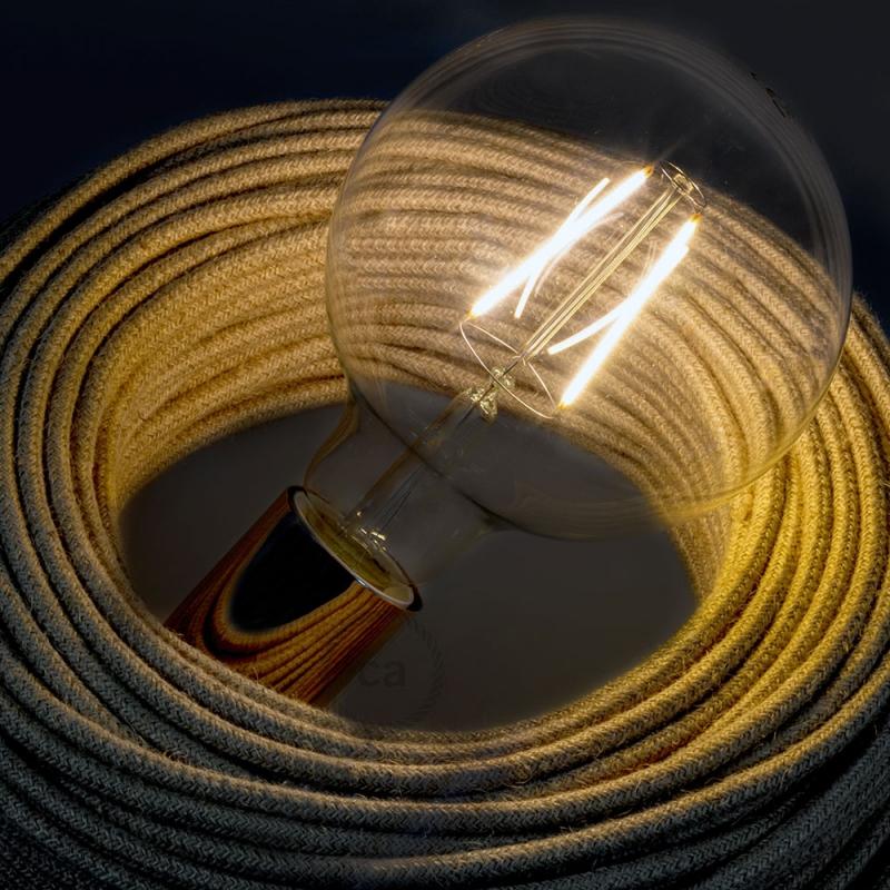 LED Transparent Light Bulb - Globe G125 Long Filament 4W Decorative Vintage 2200K