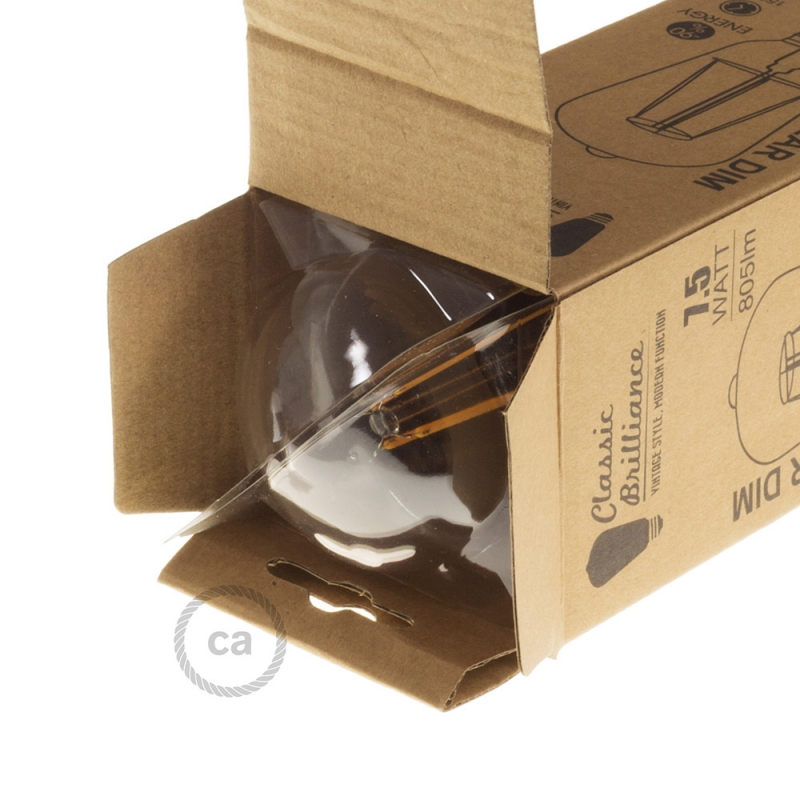 LED Transparent Light Bulb - Edison ST64 Long Filament - 7.5W E27 Decorative Vintage Dimmable 2200K
