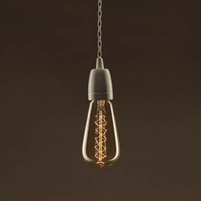 Vintage Golden Light Bulb Edison ST64 Carbon Filament Double Spiral Curve 25W E27 Dimmable 2000K