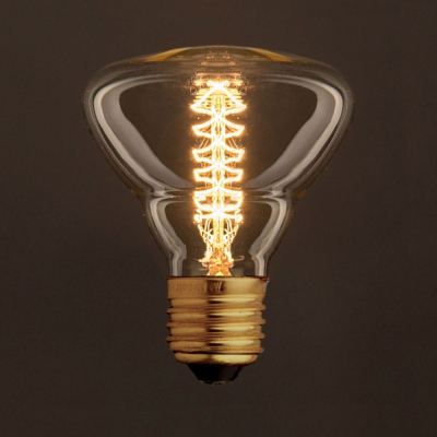 Vintage Golden Light Bulb BR95 Carbon Filament Double Spiral Curve 25W E27 Dimmable 2000K
