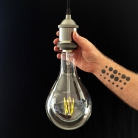 XXXL G250 LED Transparent Light Bulb -Droplet- 4W E40 Dimmable 2200K