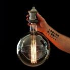XXXL G250 Filament Transparent Light Bulb -Round- 40W E40 Dimmable