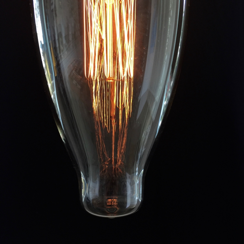 XXXL LED Transparent Light Bulb - Cigar- 4W E40 Dimmable 2200K