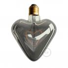 LED Light Bulb - Smoky Grey Heart - 5W E27 Dimmable 2000K
