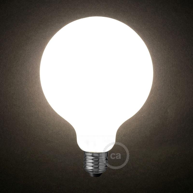 Led Milky White Light Bulb Globe G125 8w E27 Dimmable