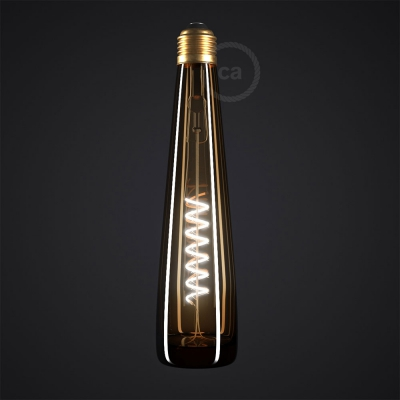 Yellow Bottle LED Designer Light Bulb 8W E27 Dimmable 2200K
