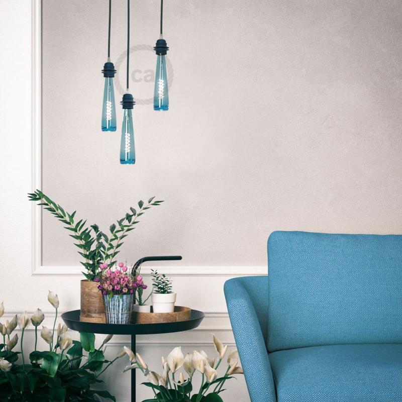 Blue Bottle LED Designer Light Bulb 8W E27 Dimmable 2200K