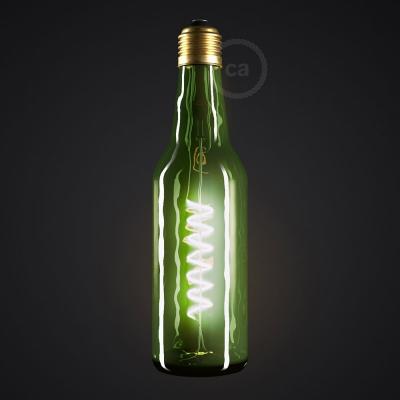 Green Beer Bottle LED Designer Light Bulb 8W E27 Dimmable 2200K