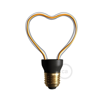 LED Art Heart Light Bulb 8W E27 Dimmable 2200K