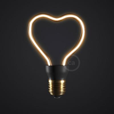 LED Art Heart Light Bulb 8W E27 Dimmable 2200K