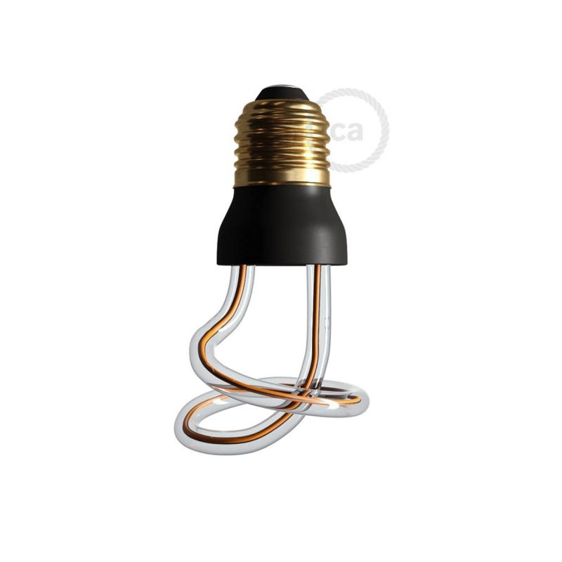 LED Art Curled Light Bulb 8W E27 Dimmable 2200K