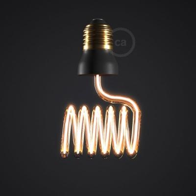 LED Art Loop Cross Light Bulb 12W E27 Dimmable 2200K