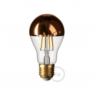 Copper half sphere Drop A60 LED light bulb 7W E27 2700K Dimmable