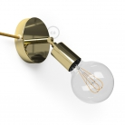Spostaluce Metallo 90°, the brass adjustable light source with fabric cable and side holes