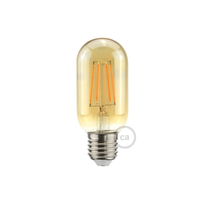 LED Golden Light Bulb Valve T45 - 5W E27 Dimmable 2000K