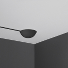 Cable Cup Hide Black, Silicone Rosette, mounting instantaneous suitable for any ceiling