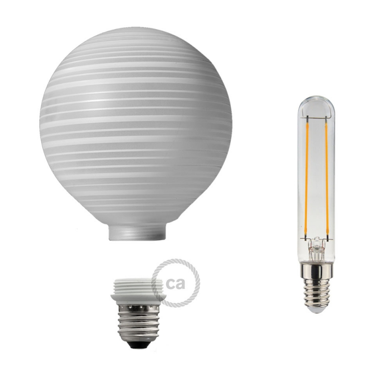 Modular LED Decorative Light bulb with White with Horizontal Lines 5W E27 Dimmable 2700K