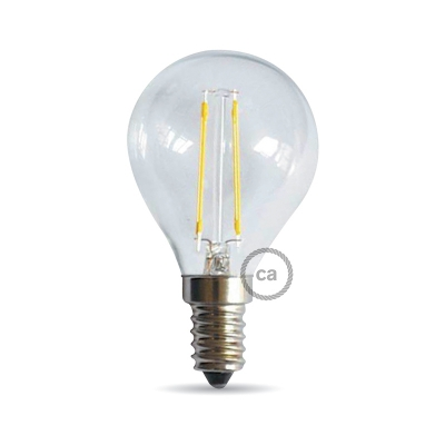 Light bulb filament Led Sphere 4W E14 Clear