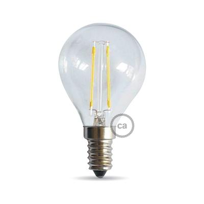 Light bulb filament Led Sphere 4W E14 Clear
