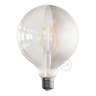 LED Light Bulb Globe G125 Curved Spiral Filament - Tattoo Lamp® Half 4W E27 2700K