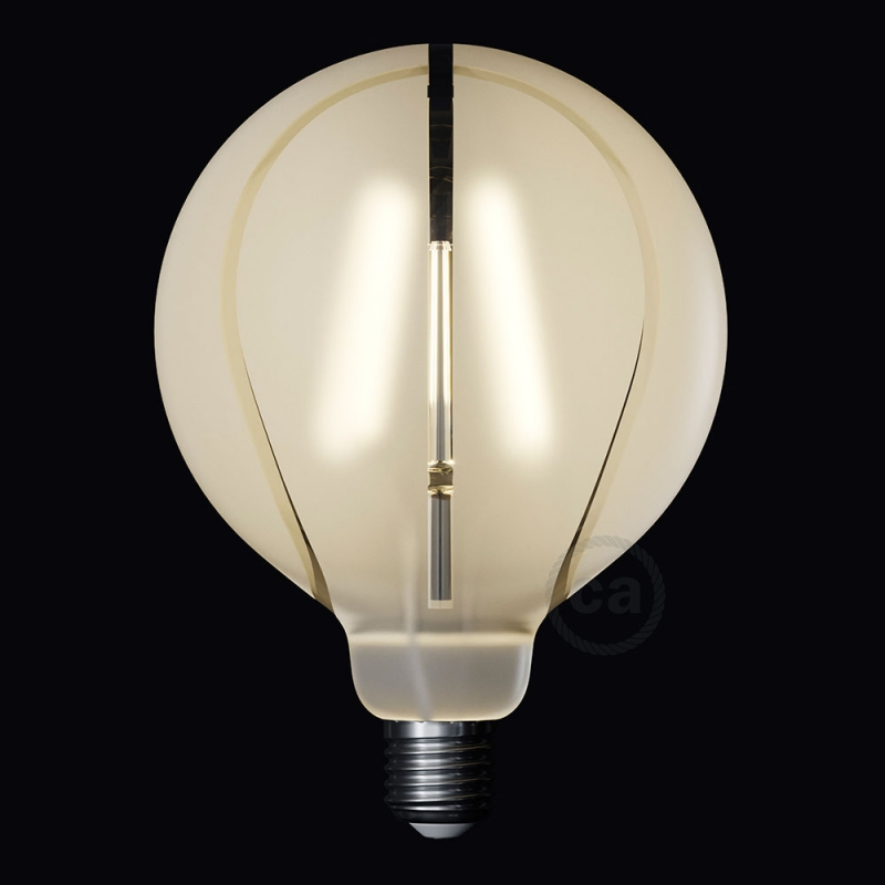 LED Light Bulb Globe G125 Curved Spiral Filament - Tattoo Lamp® Basket 4W E27 2700K