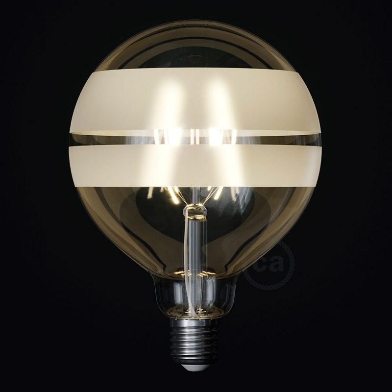 LED Light Bulb Globe G125 Curved Spiral Filament - Tattoo Lamp® Saturn 4W E27 2700K