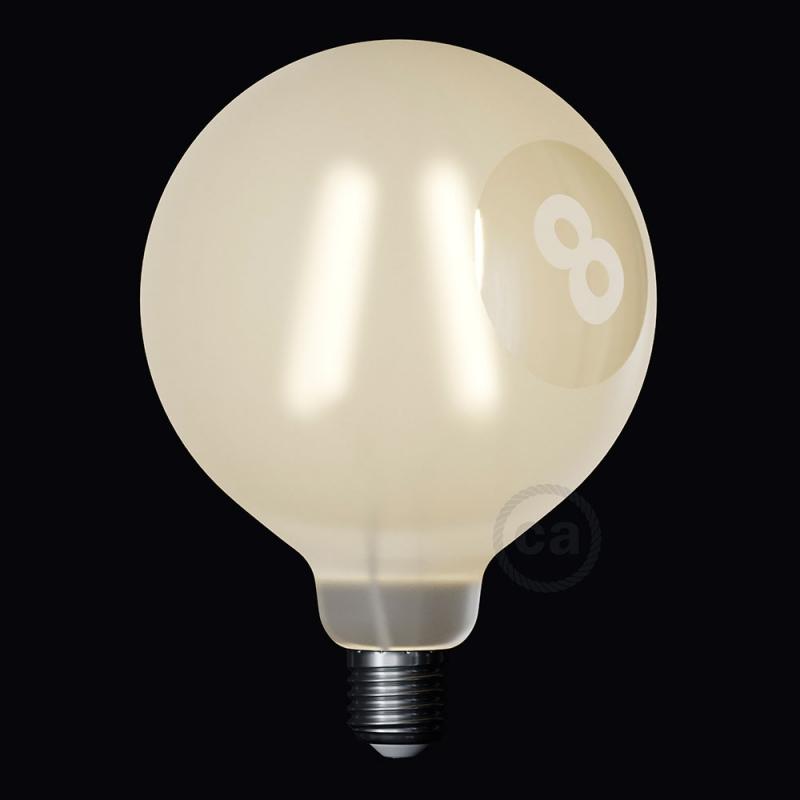 LED Light Bulb Globe G125 Curved Spiral Filament - Tattoo Lamp® Otto 4W E27 2700K
