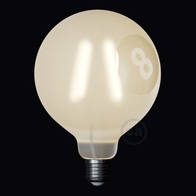 LED Light Bulb Globe G125 Curved Spiral Filament - Tattoo Lamp® Otto 4W E27 2700K