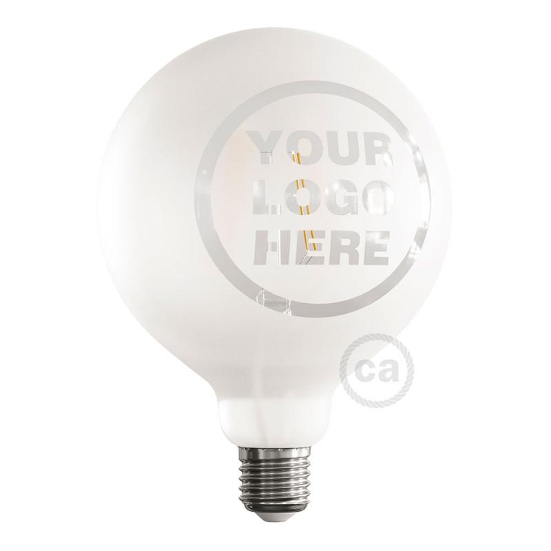 LED Light Bulb Globe G125 Curved Spiral Filament - Tattoo Lamp® Custom Design 4W E27 2700K