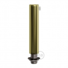 Brass finish metal round 7 cm strain relief clamp provided with threaded tube, nut and washer