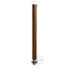 Copper finish metal round 15 cm strain relief clamp provided with threaded tube, nut and washer