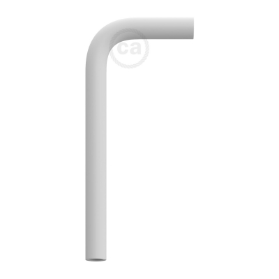 White metal bent 14 cm extension pipe