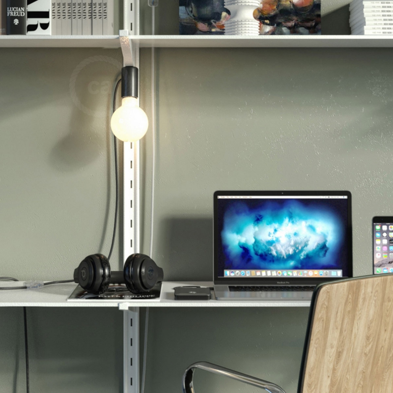 Magnetico®-Plug Black, ready-to-use magnetic lamp holder