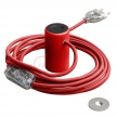 Magnetico®-Plug Red, ready-to-use magnetic lamp holder