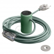 Magnetico®-Plug Green, ready-to-use magnetic lamp holder