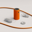 Magnetico®-Plug Orange, ready-to-use magnetic lamp holder