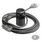 Magnetico®-Plug Dark Chrome, ready-to-use magnetic lamp holder