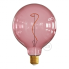 LED Light Bulb G125 Berry red, Pastel collection, vine filament 4W E27 Dimmable 2200K