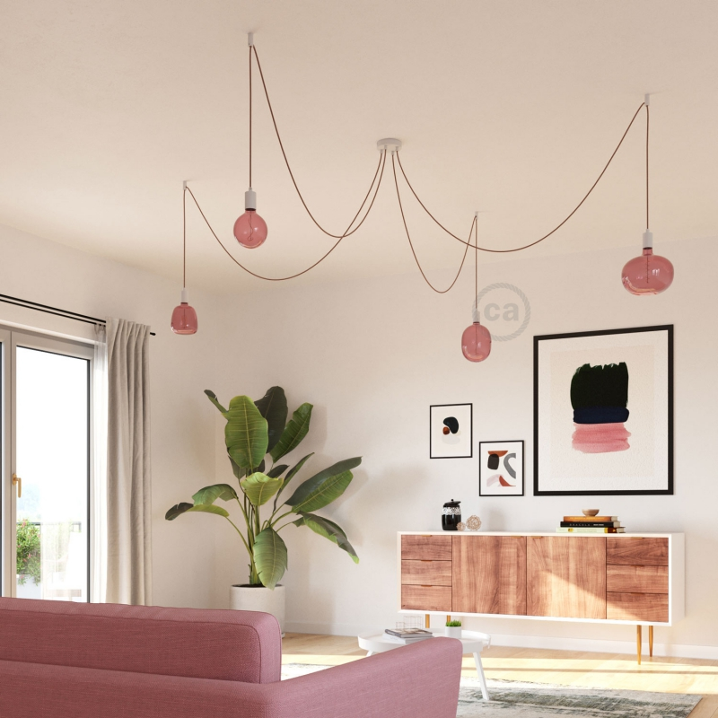 LED Light Bulb Egg Berry red, Pastel collection, vine filament 4W E27 Dimmable 2200K