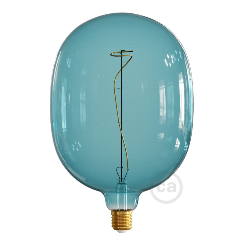 LED Light Bulb Egg Ocean blue, Pastel collection, vine filament 4W E27 Dimmable 2200K