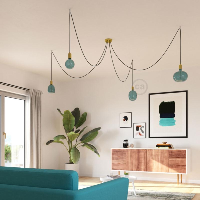 LED Light Bulb Egg Ocean blue, Pastel collection, vine filament 4W E27 Dimmable 2200K