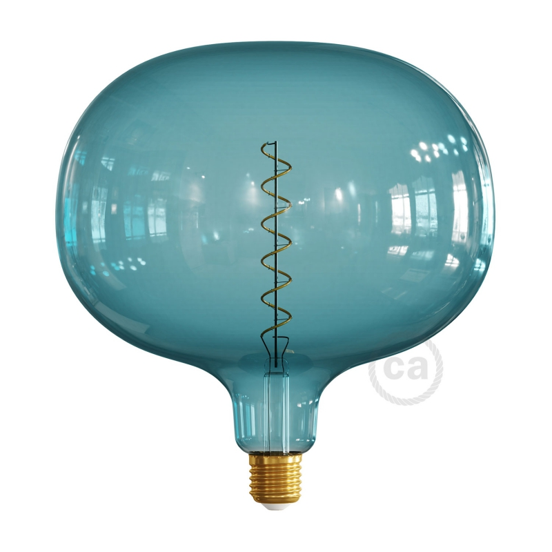 LED Light Bulb Cobble Ocean blue, Pastel collection, spiral filament 4W E27 Dimmable 2200K