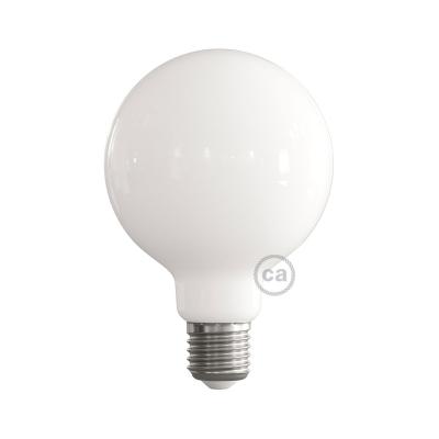 LED Milky White Light Bulb - Globe G95 - 5W E27 2700K
