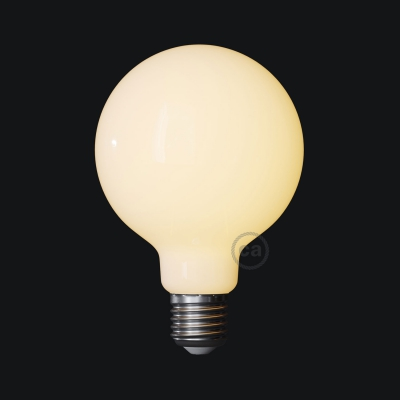 LED Milky White Light Bulb - Globe G95 - 7.5W E27 Dimmable 2700K